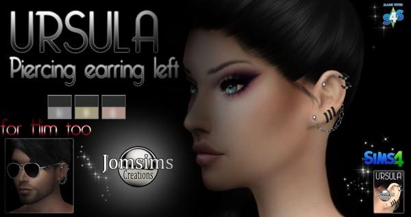 Jom Sims Creations: Ursula piercing left earrings