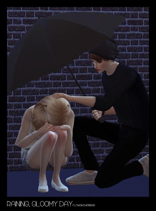 Flower Chamber: Raining, Gloomy Day   Crying / Umbrella set