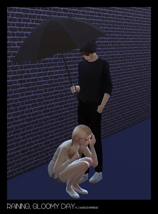 Flower Chamber: Raining, Gloomy Day   Crying / Umbrella set