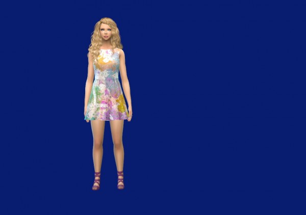 Enure Sims: Basic Skater Dress
