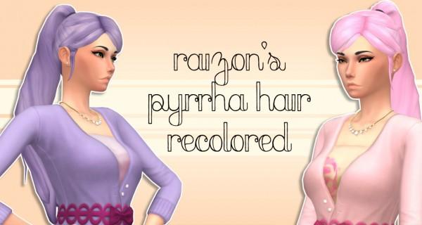 Rumoruka Raizon: Pyrrha's Hair recolored