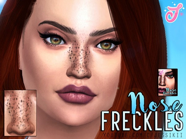 The Sims Resource: Nose Freckles by Senpai Simmer