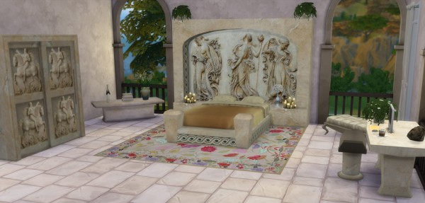 Sims 4 Studio The Roman Collection Julius Bed Sims 4