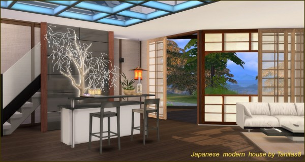 Tanitas Sims Japanese Modern House Sims 4 Downloads