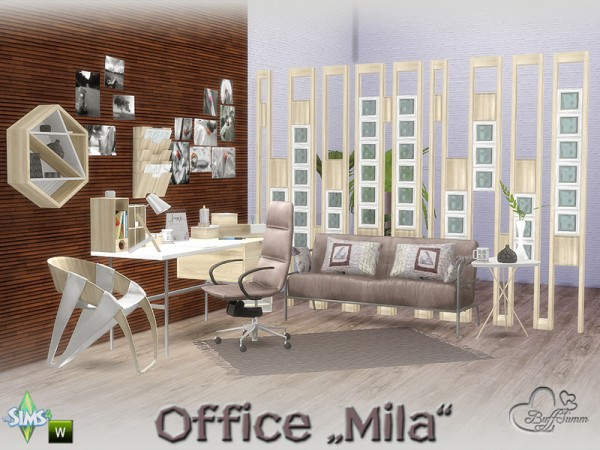 The Sims Resource Mila Office By Buffsumm Sims 4 Downloads