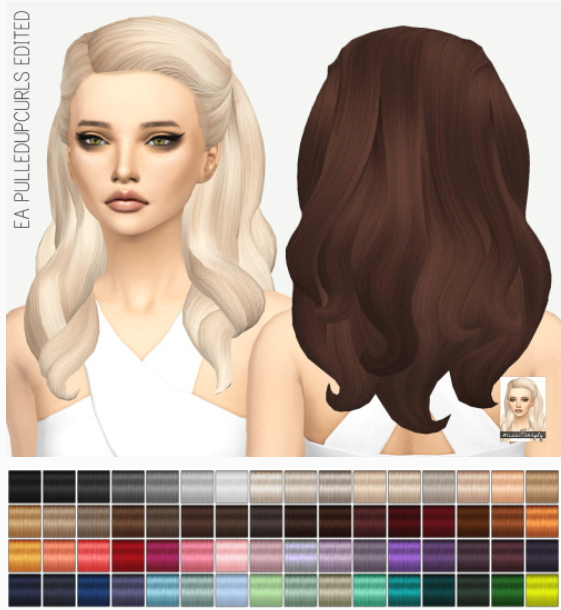 Miss Paraply: EA Pulldupcurls edit hairstyle solid coloros