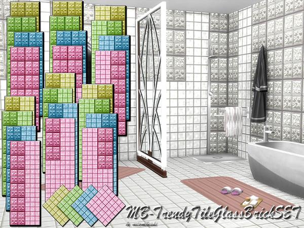 The Sims Resource: MB   Trendy Tile Glass Brick set by matomibotaki