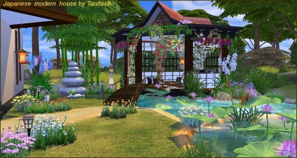Tanitas Sims Japanese Modern House Sims 4 Downloads