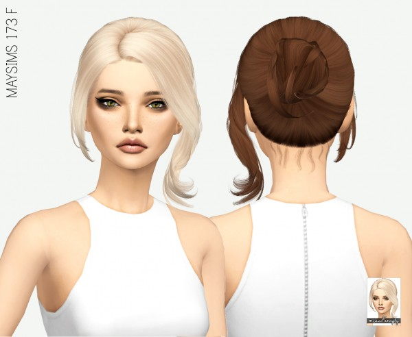 Miss Paraply Maysims 173 F Hair Retextured Sims 4 Downloads