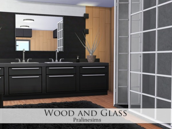 The Sims Resource: Wood and Glass by Pralinesims