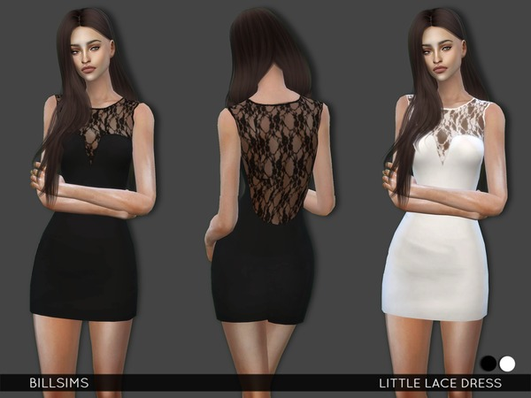 The Sims Resource: Little Lace Dress by Bill Sims