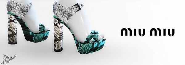 MA$ims 3: Snakeskin Sandals