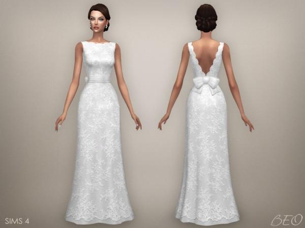beo creations: wedding dress - ellie • sims 4 downloads