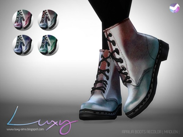 The Sims Resource: Aprilia Boots by Luxy Sims 3