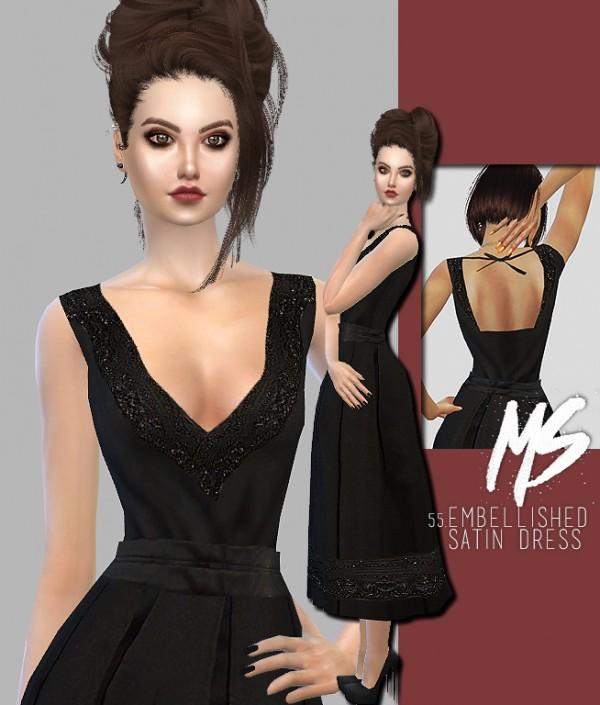 Merakisims: 55 Embellished satin dress