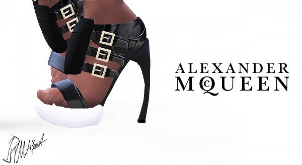 MA$ims 3s: Al. Mc. Q. Sandals