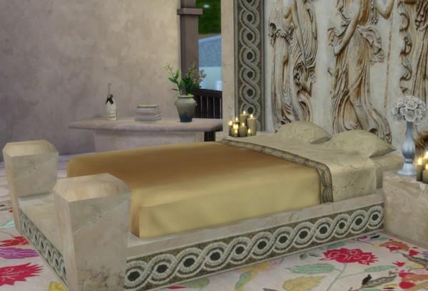 Sims 4 Studio: The Roman Collection   Julius bed