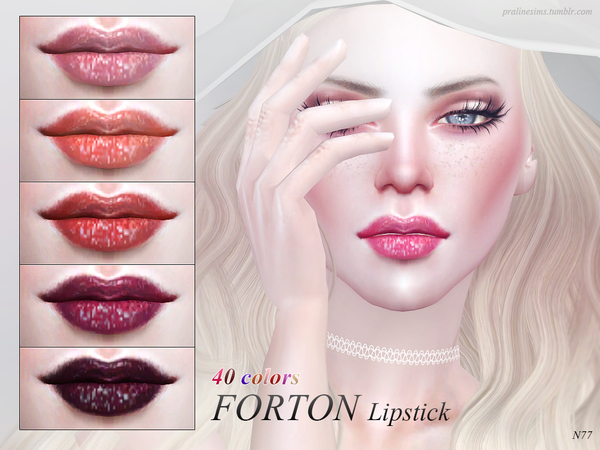 The Sims Resource: Forton Lipstick N77 by Pralinesims