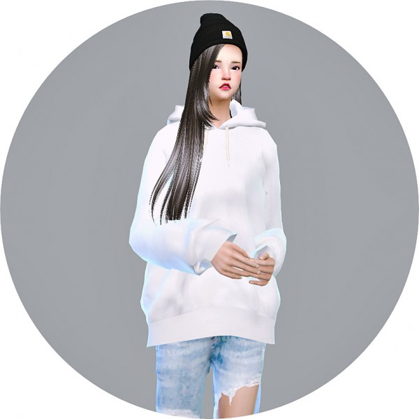 Sims4 Marigold Hoodie For Female Sims 4 Downloads
