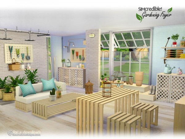 The Sims Resource: Gardening Foyer decor by SIMcredible