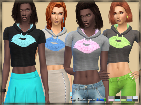The Sims Resource: Short Top Kiss by Bukovka