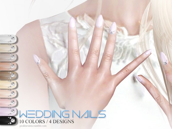 The Sims Resource: Wedding Nails by Pralinesims