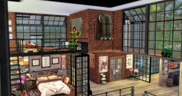 Pqsims4 Urban Chic Urban Loft Sims 4 Downloads