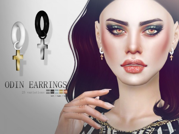 The Sims Resource Odin Earrings By Pralinesims Sims 4