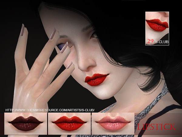 The Sims Resource: Lipstick 29 by S Club