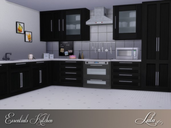 The sims resource essentials kitchen by lulu265 sims 4 for Cc kitchen cabinets