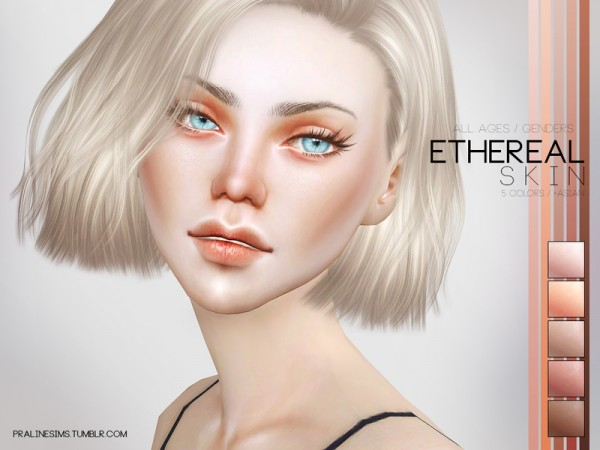The Sims Resource: Ethereal Skin by Pralinesims