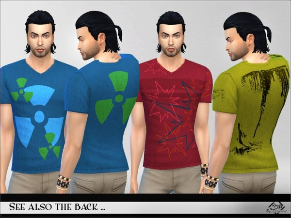 The Sims Resource: Tshirt Man Collection by Devirose