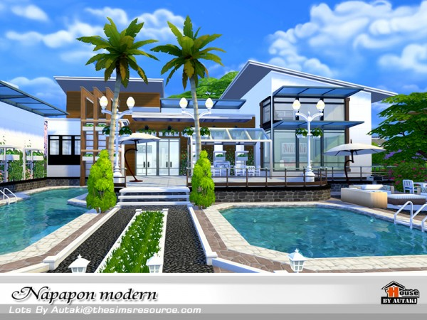 The Sims Resource: Napapon Modern house by autaki