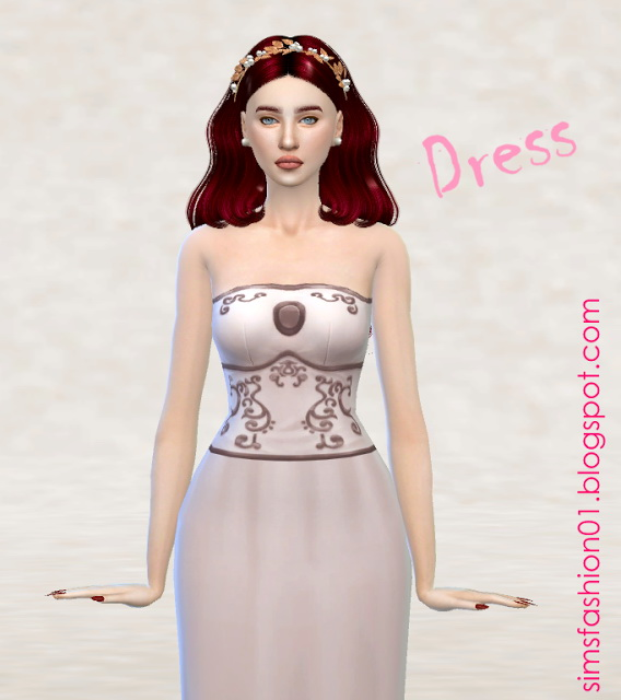 The Sims Resource: Medieval Dress by SimsFashion01