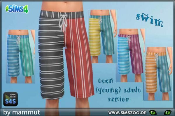 Blackys Sims 4 Zoo: Swim shorts 2 by Mammut