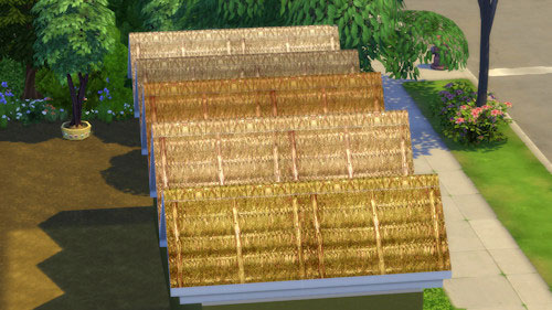 La Luna Rossa Sims: Thatched Roof