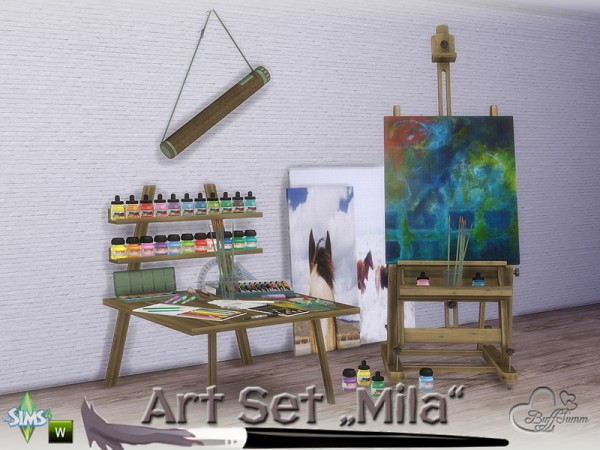 The Sims Resource: Mila Art Hobby Set by BuffSumm