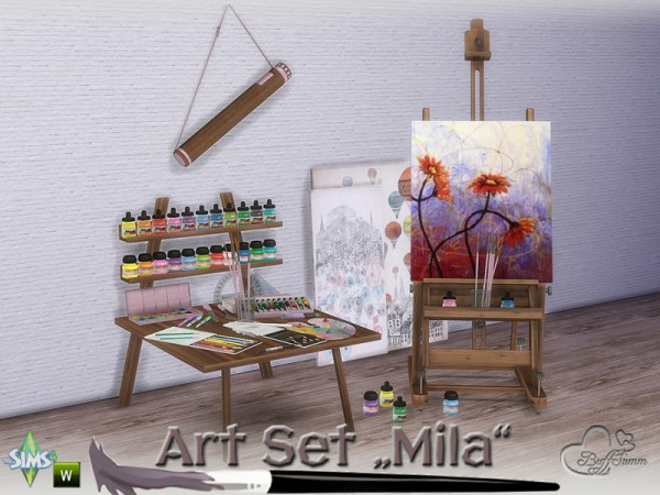 The Sims Resource Mila Art Hobby Set By Buffsumm Sims 4