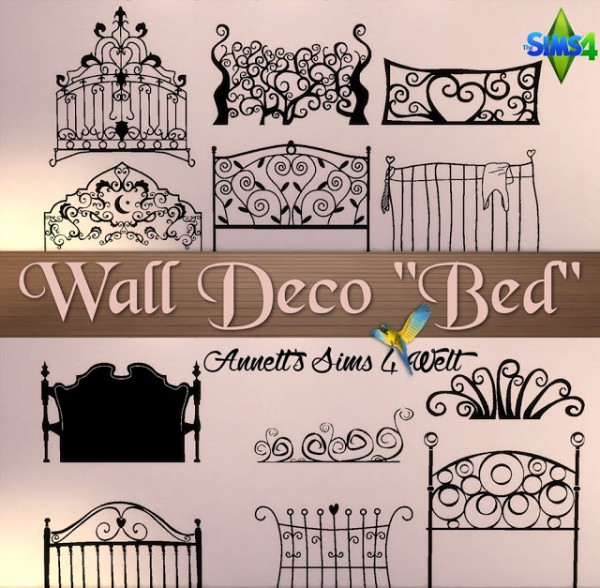 Annett`s Sims 4 Welt: Wall Deco Bed
