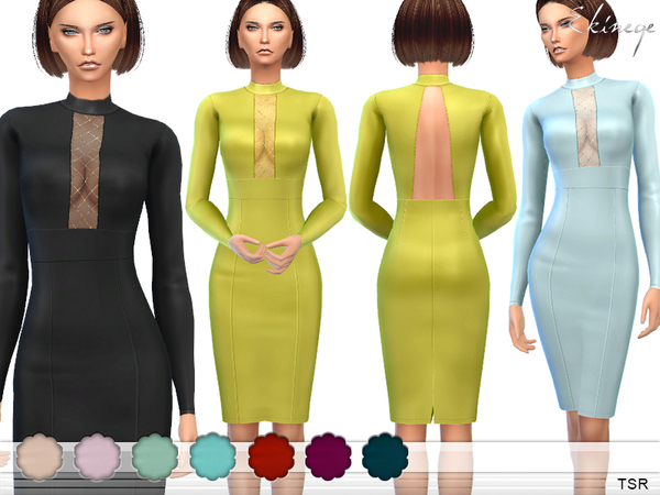 The Sims Resource: Mesh Insert Pencil Dress by ekinege