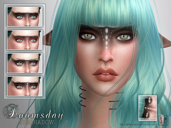 The Sims Resource: Doomsday   Eyeshadow by Screaming Mustard
