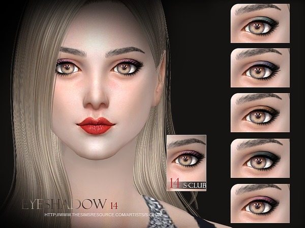 The Sims Resource: Eyeshadow 14 by S Club