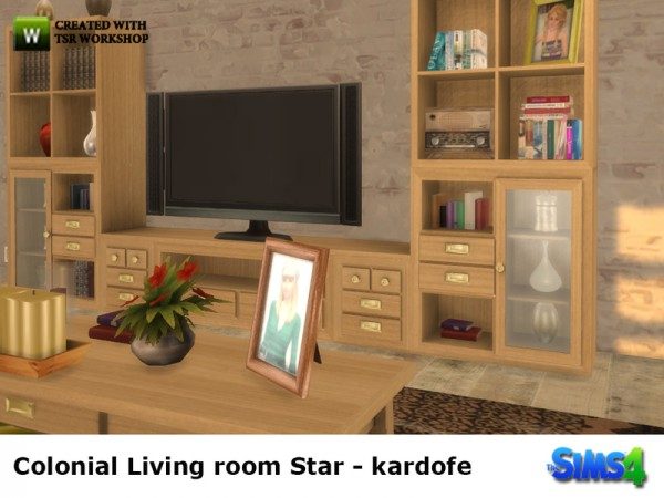 The Sims Resource: Colonial Livingroom Star by Kardofe