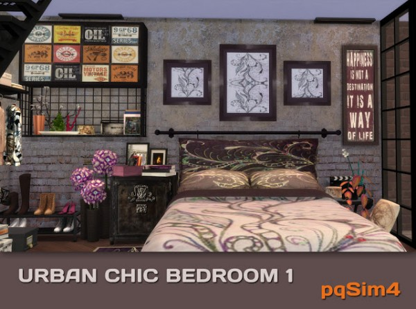 PQSims4: Urban Chic Bedroom 1