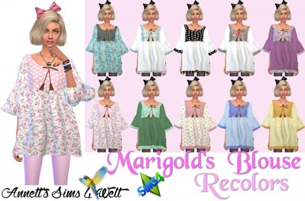 Annett`s Sims 4 Welt: Marigolds Tassel Blouse Recolored