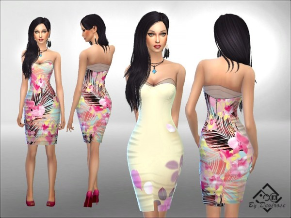 The Sims Resource: Summer Dreams Dress by Devirose