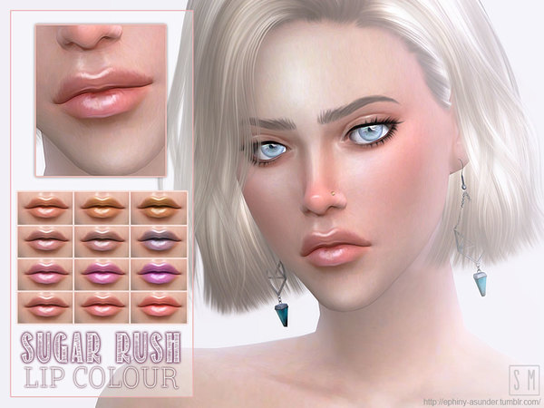 The Sims Resource: Sugar Rush   Candy Lipstick by Screaming Mustard
