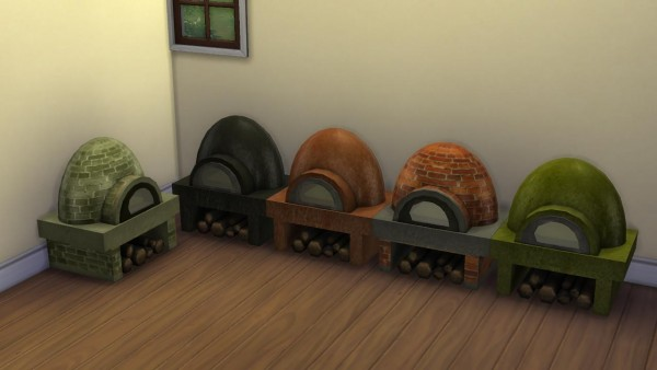 Mod The Sims: Rustic Clay Pizza oven. With pizza recipes! by necrodog