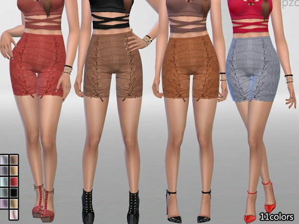The Sims Resource: Elegant Suede Shorts by Pinkzombiecupcakes