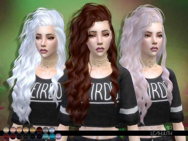 The Sims Resource: LeahLillith Strong Hairstyle